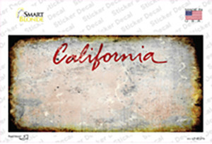 California State Rusty Wholesale Novelty Sticker Decal