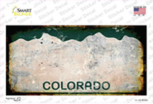 Colorado State Rusty Wholesale Novelty Sticker Decal