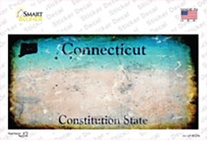 Connecticut State Rusty Wholesale Novelty Sticker Decal