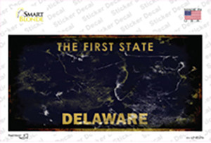 Delaware State Rusty Wholesale Novelty Sticker Decal