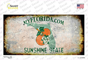 Florida State Rusty Wholesale Novelty Sticker Decal