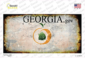 Georgia State Rusty Wholesale Novelty Sticker Decal