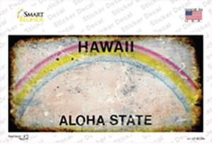 Hawaii State Rusty Wholesale Novelty Sticker Decal