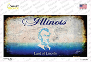 Illinois State Rusty Wholesale Novelty Sticker Decal