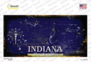 Indiana State Rusty Wholesale Novelty Sticker Decal