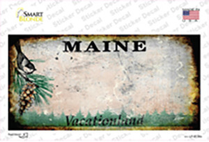 Maine State Rusty Wholesale Novelty Sticker Decal