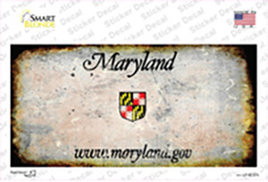 Maryland State Rusty Wholesale Novelty Sticker Decal