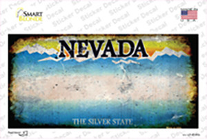 Nevada State Rusty Wholesale Novelty Sticker Decal