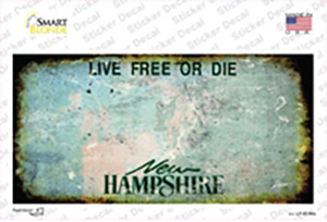 New Hampshire State Rusty Wholesale Novelty Sticker Decal