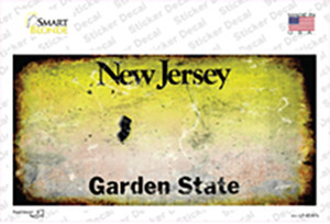 New Jersey State Rusty Wholesale Novelty Sticker Decal