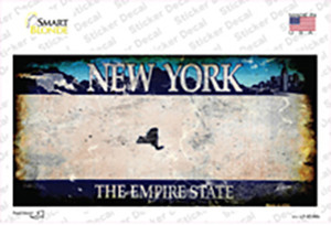 New York State Rusty Wholesale Novelty Sticker Decal