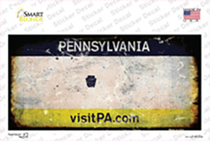 Pennsylvania State Rusty Wholesale Novelty Sticker Decal