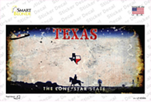 Texas State Rusty Wholesale Novelty Sticker Decal