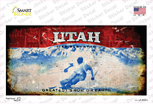 Utah State Rusty Wholesale Novelty Sticker Decal