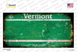 Vermont State Rusty Wholesale Novelty Sticker Decal