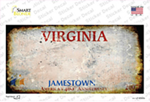 Virginia State Rusty Wholesale Novelty Sticker Decal