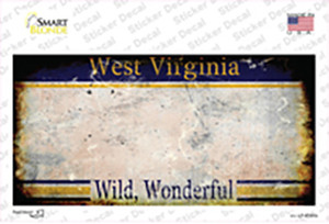 West Virginia State Rusty Wholesale Novelty Sticker Decal