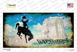 Wyoming State Rusty Wholesale Novelty Sticker Decal