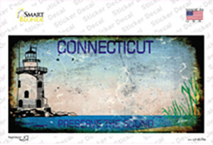 Connecticut Rusty Wholesale Novelty Sticker Decal