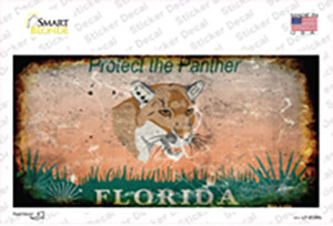 Florida Protect Panther Rusty Wholesale Novelty Sticker Decal