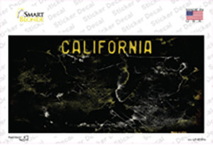 California Black State Rusty Wholesale Novelty Sticker Decal