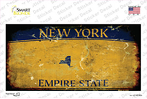 New York State Rusty Background Wholesale Novelty Sticker Decal