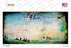 Ohio State Rusty Background Wholesale Novelty Sticker Decal