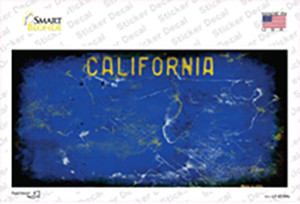 California Blue State Rusty Wholesale Novelty Sticker Decal