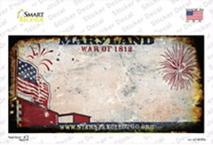 Maryland State Rusty Background Wholesale Novelty Sticker Decal