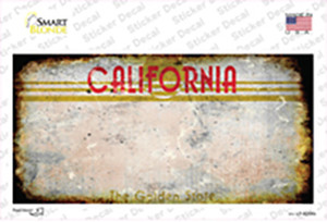 California Golden State Rusty Blank Wholesale Novelty Sticker Decal