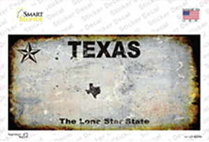 Texas Rusty Wholesale Novelty Sticker Decal