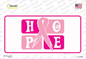 Hope Breast Cancer Ribbon Wholesale Novelty Sticker Decal