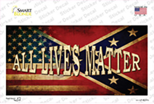 All Lives Matter Confederate Flag Wholesale Novelty Sticker Decal