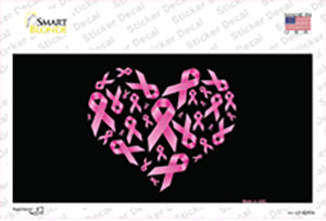 Pink Ribbons Wholesale Novelty Sticker Decal