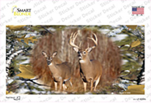 Two Deer On Camo Wholesale Novelty Sticker Decal