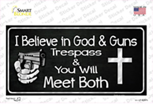 God And Guns Wholesale Novelty Sticker Decal