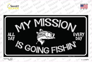 My Mission Is Fishin Wholesale Novelty Sticker Decal