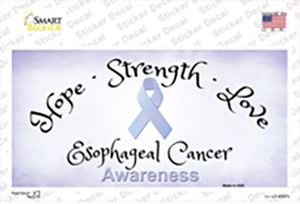 Esophageal Cancer Ribbon Wholesale Novelty Sticker Decal