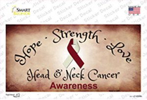 Head and Neck Cancer Ribbon Wholesale Novelty Sticker Decal
