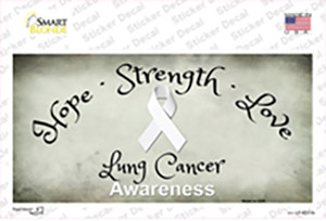 Lung Cancer Ribbon Wholesale Novelty Sticker Decal
