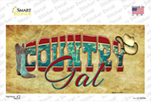 Country Gal Wholesale Novelty Sticker Decal