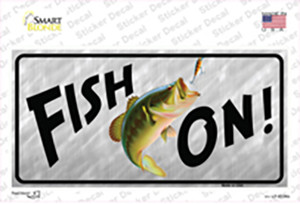 Fish On Wholesale Novelty Sticker Decal