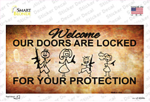 Doors Locked Your Protection Wholesale Novelty Sticker Decal