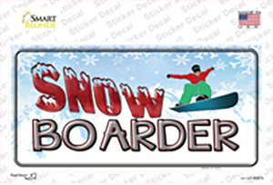 Snow Boarder Wholesale Novelty Sticker Decal