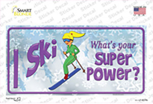 I Ski Whats Your Super Power Wholesale Novelty Sticker Decal