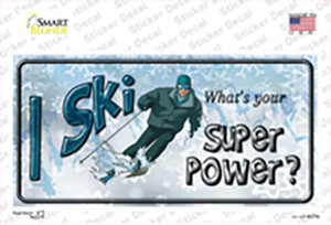 I Ski What's Your Super Power Wholesale Novelty Sticker Decal