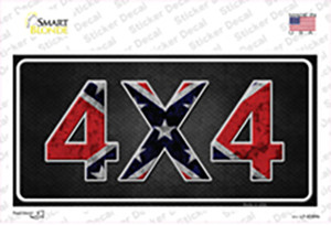 4x4 Confederate Wholesale Novelty Sticker Decal