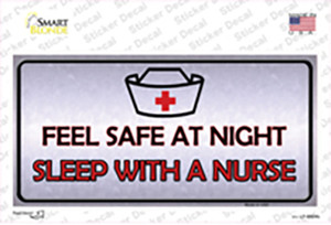 Feel Safe At Night Wholesale Novelty Sticker Decal