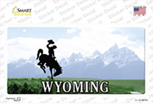 Wyoming State Wholesale Novelty Sticker Decal