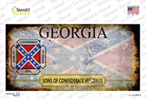 Georgia Rusty State Wholesale Novelty Sticker Decal
